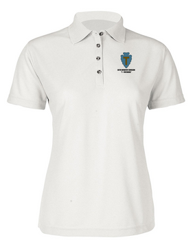 "36th Infantry Division ""T-Patchers"" Ladies Embroidered Moisture Wick Polo Shirt"