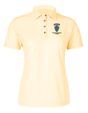 36th Infantry Division (Airborne)  Ladies Embroidered Moisture Wick Polo Shirt