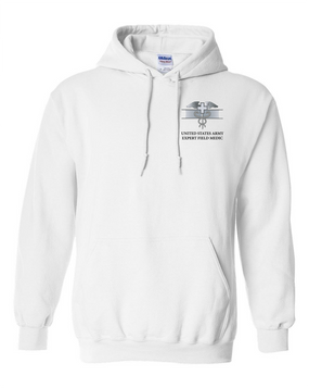 Expert Field Medical Badge (EFMB) Embroidered Hooded Sweatshirt