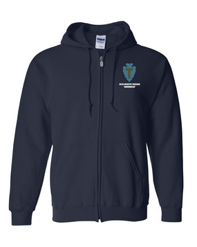 36th Infantry Division Embroidered Hooded Sweatshirt with Zipper