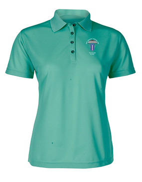 193rd Infantry Brigade (Airborne) Ladies Embroidered Moisture Wick Polo Shirt