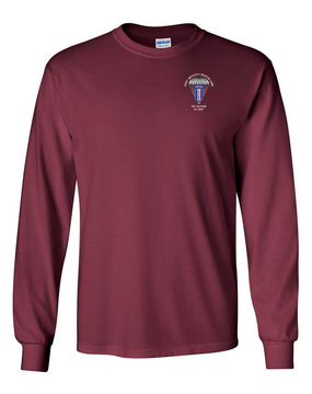 193rd Infantry Brigade (Airborne) Long-Sleeve Cotton T-Shirt
