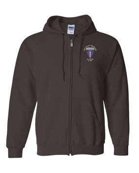 193rd Infantry Brigade (Airborne) Embroidered Hooded Sweatshirt with Zipper