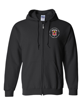509th JRTC Embroidered Hooded Sweatshirt with Zipper