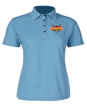 Bass & Bucks Ladies Embroidered Moisture Wick Polo Shirt