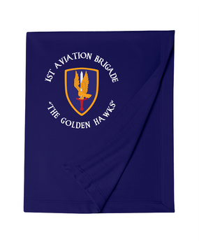 1st Aviation Brigade (C) Embroidered Dryblend Stadium Blanket