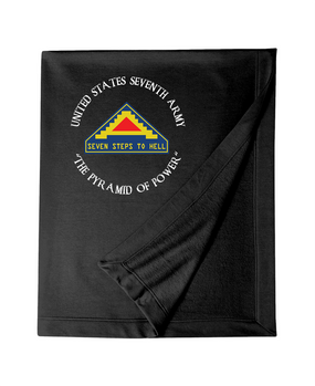 United States 7th Army (C) Embroidered Dryblend Stadium Blanket