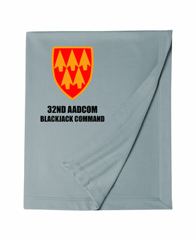 32nd Army Air Defense Command Embroidered Dryblend Stadium Blanket