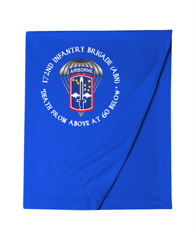 172nd Infantry Brigade (Airborne) (C)  Embroidered Dryblend Stadium Blanket