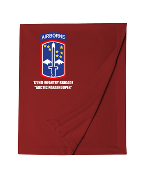 172nd Infantry Brigade (Airborne)  Embroidered Dryblend Stadium Blanket