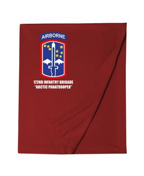 172nd Infantry Brigade (Airborne)  Embroidered Dryblend Stadium Blanket