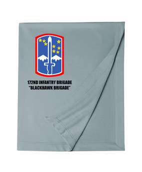 "172nd Infantry Brigade ""Blackhawk""  Embroidered Dryblend Stadium Blanket"