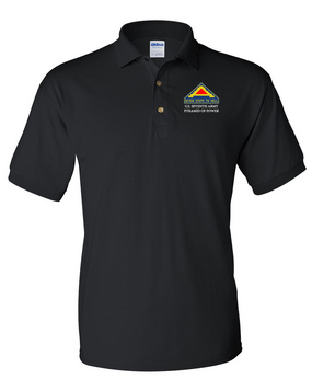 United States 7th Army Embroidered Cotton Polo Shirt