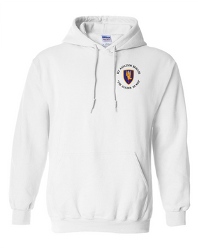 1st Aviation Brigade (C)  Embroidered Hooded Sweatshirt