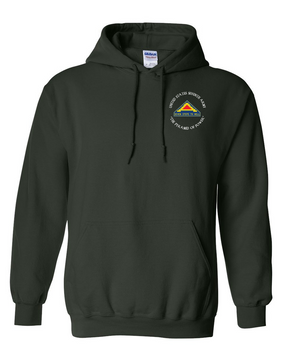 United States 7th Army (C)  Embroidered Hooded Sweatshirt