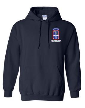 172nd Infantry Brigade (Airborne)  Embroidered Hooded Sweatshirt