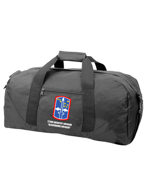 "172nd Infantry Brigade ""Blackhawk"" Embroidered Duffel Bag"