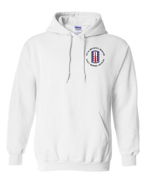 197th Infantry Brigade (C)  Embroidered Hooded Sweatshirt