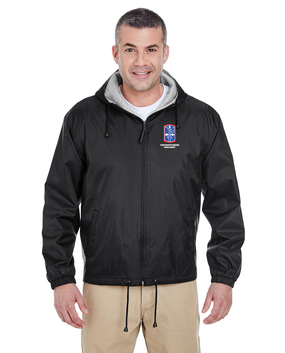 "172nd Infantry Brigade ""Snow Hawks""  Embroidered Fleece-Lined Hooded Jacket"