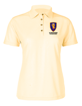 1st Aviation Brigade Ladies Embroidered Moisture Wick Polo Shirt