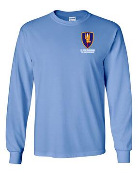 1st Aviation Brigade Long-Sleeve Cotton T-Shirt