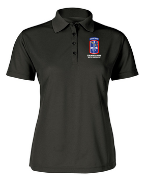 172nd Infantry Brigade (Airborne)  Ladies Embroidered Moisture Wick Polo Shirt