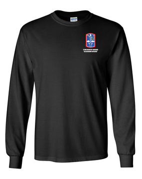 "172nd Infantry Brigade ""Blackhawk""  Long-Sleeve Cotton T-Shirt"