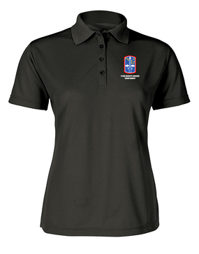 "172nd Infantry Brigade ""Snow Hawks""  Ladies Embroidered Moisture Wick Polo Shirt"