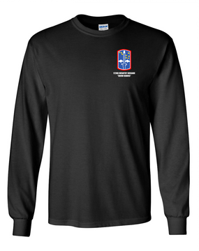 "172nd Infantry Brigade ""Snow Hawks""  Long-Sleeve Cotton T-Shirt"
