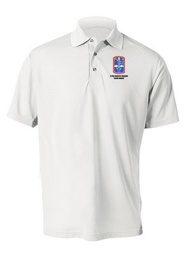 "172nd Infantry Brigade ""Snow Hawks""  Embroidered Moisture Wick Polo  Shirt"