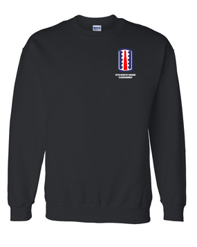 "197th Infantry Brigade ""Sledgehammer""  Embroidered Sweatshirt"