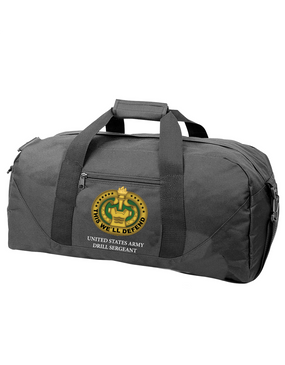 US Army Drill Sergeant Badge Embroidered Duffel Bag