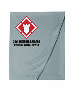 20th Engineer Brigade  Embroidered Dryblend Stadium Blanket