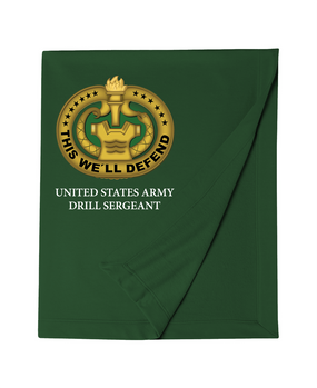 US Army Drill Sergeant Embroidered Dryblend Stadium Blanket