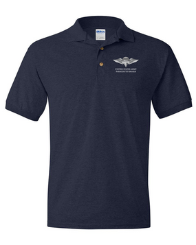 US Army Rigger Wings Embroidered Cotton Polo Shirt