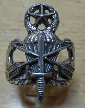 US Army Special Forces  Master Parachutist Sterling Silver Ring