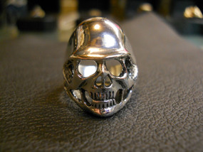 German Hat Skull Sterling Silver Ring