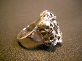 Pile of Skulls Sterling Silver Ring