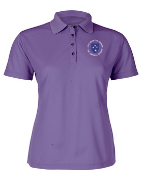 23rd Infantry Division (C) Ladies Embroidered Moisture Wick Polo Shirt