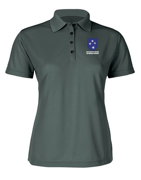 23rd Infantry Division Ladies Embroidered Moisture Wick Polo Shirt