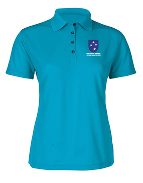"23rd Infantry Division ""Vietnam Combat Veteran""  Ladies Embroidered Moisture Wick Polo Shirt"