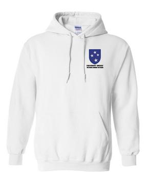 "23rd Infantry Division ""Vietnam Combat Veteran""  Embroidered Hooded Sweatshirt"