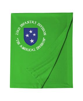 23rd Infantry Division (C) Embroidered Dryblend Stadium Blanket