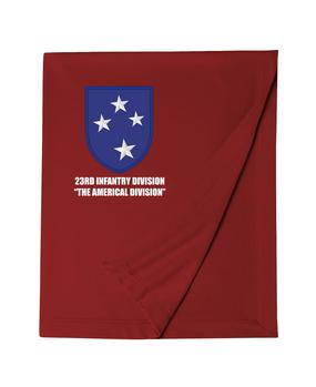 23rd Infantry Division Embroidered Dryblend Stadium Blanket
