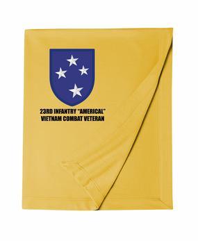 "23rd Infantry Division ""Vietnam Combat Veteran""  Embroidered Dryblend Stadium Blanket"
