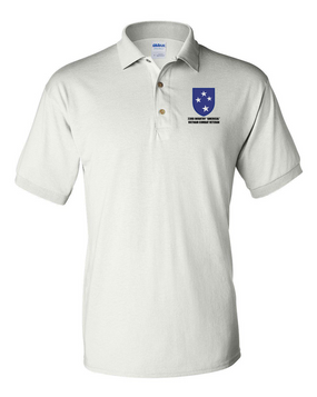 "23rd Infantry Division ""Vietnam Combat Veteran""  Embroidered Cotton Polo Shirt"