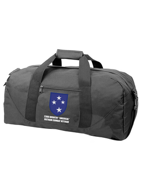 "23rd Infantry Division ""Vietnam Combat Veteran""  Embroidered Duffel Bag"