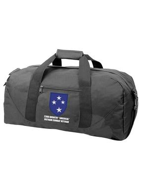 "23rd Infantry Division ""Vietnam Combat Veteran""  Embroidered Duffel Bag"