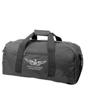 US Army Senior Aviator Embroidered Duffel Bag