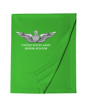 US Army Senior Aviator Embroidered Dryblend Stadium Blanket
